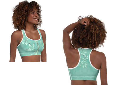 Women's workout wear set- sports bra and leggings. Tree of Life design- for yoga, pilates, gym. From Artikrti.