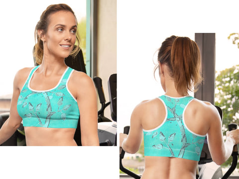 Gym wear sports bra and leggings. Yoga pants Tree of Life design. Pilates, workout wear. From Artikrti.