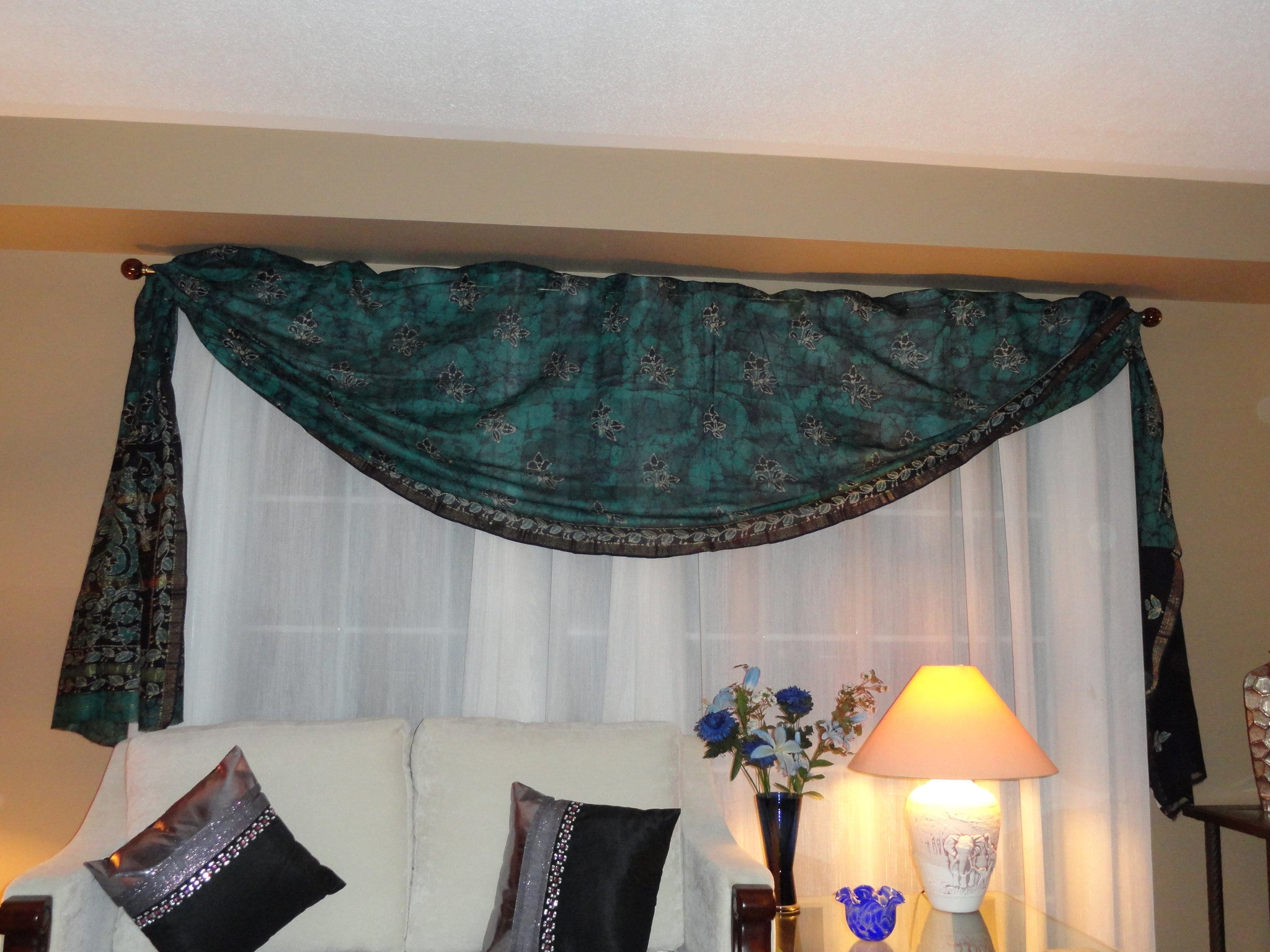 Indian Silk Curtains Drapes. Window, Indian, Ethnic Custom Curtains, Window  Drapes Or Valence. From Artikrti.