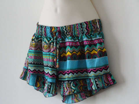beach shorts summery cool girl's shorts turquoise blue artikrti 2