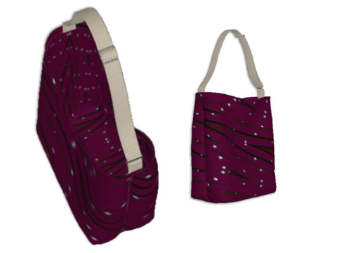 Women's work tote. Three cool styles- origami tote, day tote & basic tote. Wine color/maroon/burgundy. Artikrti
