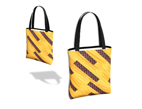 Women's tote bag for work. Three types- basic tote, origami tote and day tote. Yellow. chocolate brown.  Artikrti
