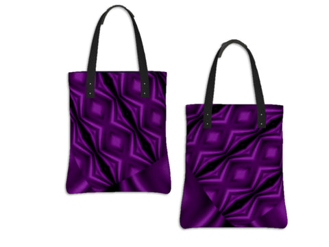 Every day tote bag for girls. Three cool styles- origami tote, day tote & basic tote. Purple. Artikrti