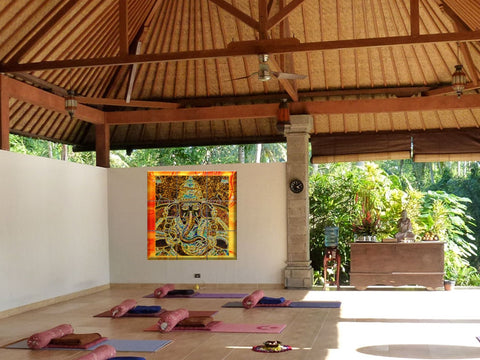 "Ganesh Wood Print. Vinayaga Yoga room Decor Idea. Contemporary Indian Art- ""Prosperity"". Artikrti"