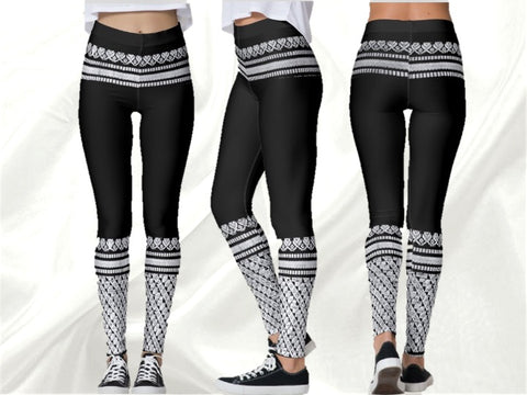 Black dance or yoga leggings- Rajanigandha by Artikrti1