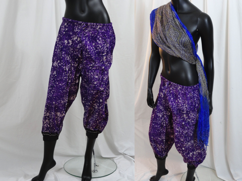 Yoga Harem Pants. Casual boho cotton capris. Meditation Baggy Gypsy Pants. Yoga legging,  tai chi pants. ComfyCottons from Aritkrti.