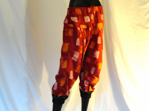 Red Yoga legging, Women's Yoga Pants, Alibaba Baggy Pants, tai chi pants, Red Cotton Capri Yoga trousers, Harem Pants, Meditation, Maternity pant, Lounge wear, Casual women's pant, boho clothing, Maxi, Baggy Gypsy Pants. ComfyCottons from Aritkrti.