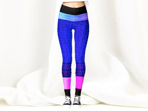 purple violet pink yoga pants tights Kavya or Poetry artikrti1
