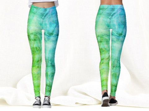 yoga leggings green turquoise blue artikrti1