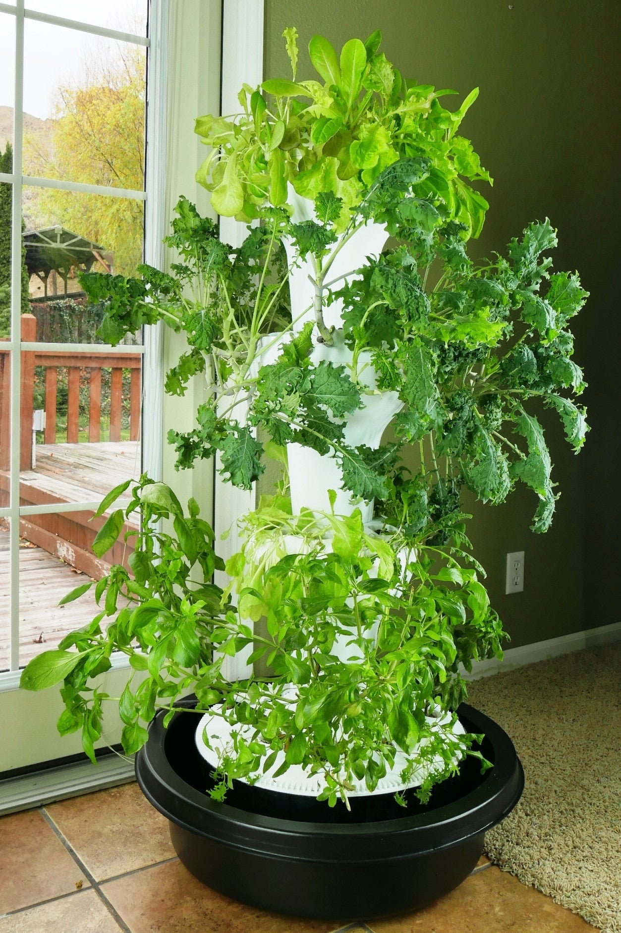 hydroponic tower garden. Foody 12 Hydroponic Tower Garden C