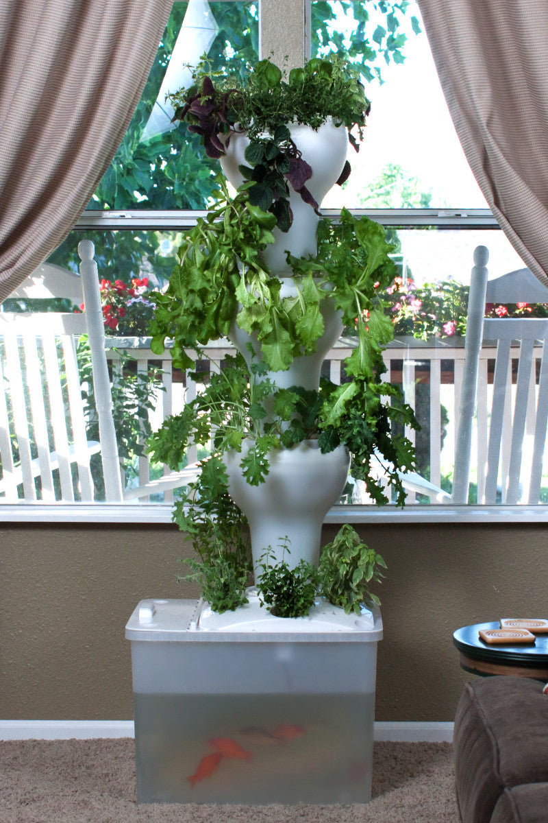Foody 12 Aquaponic Tower - Just Add Fish