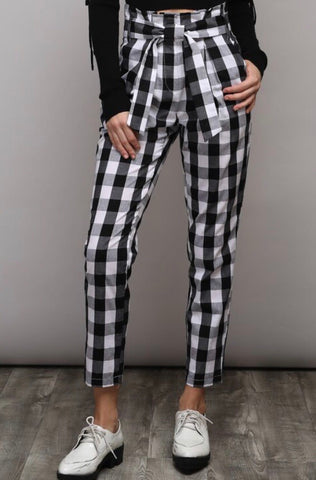 Plaid habits pants