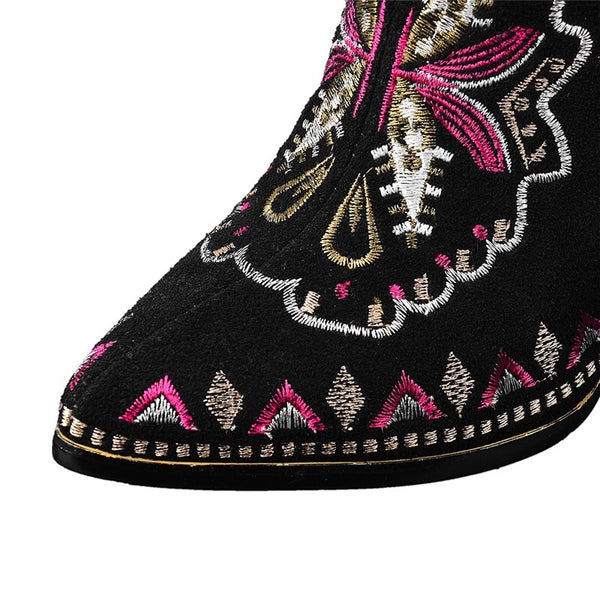 Lena Embroidered Boots
