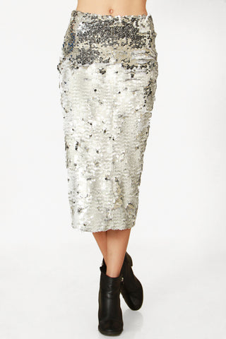 Reflection Sequin Pencil Skirt