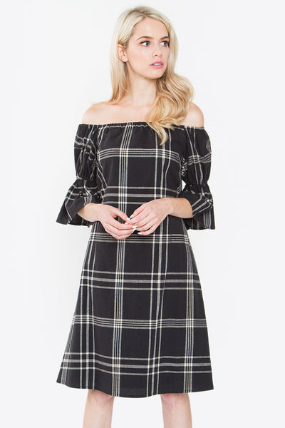 Jolie Plaid Dress