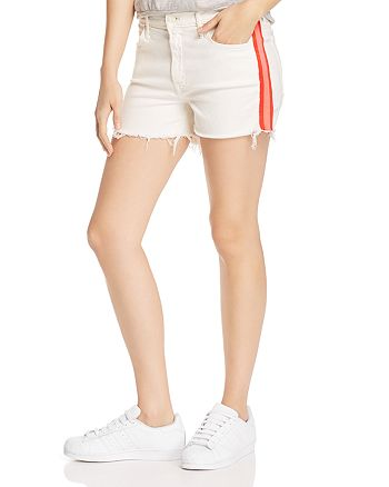 MOTHER SINNER WHITE DENIM SHORTS