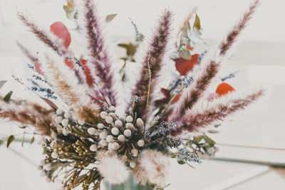 LOW PAMPAS FLORAL ARRANGMENT