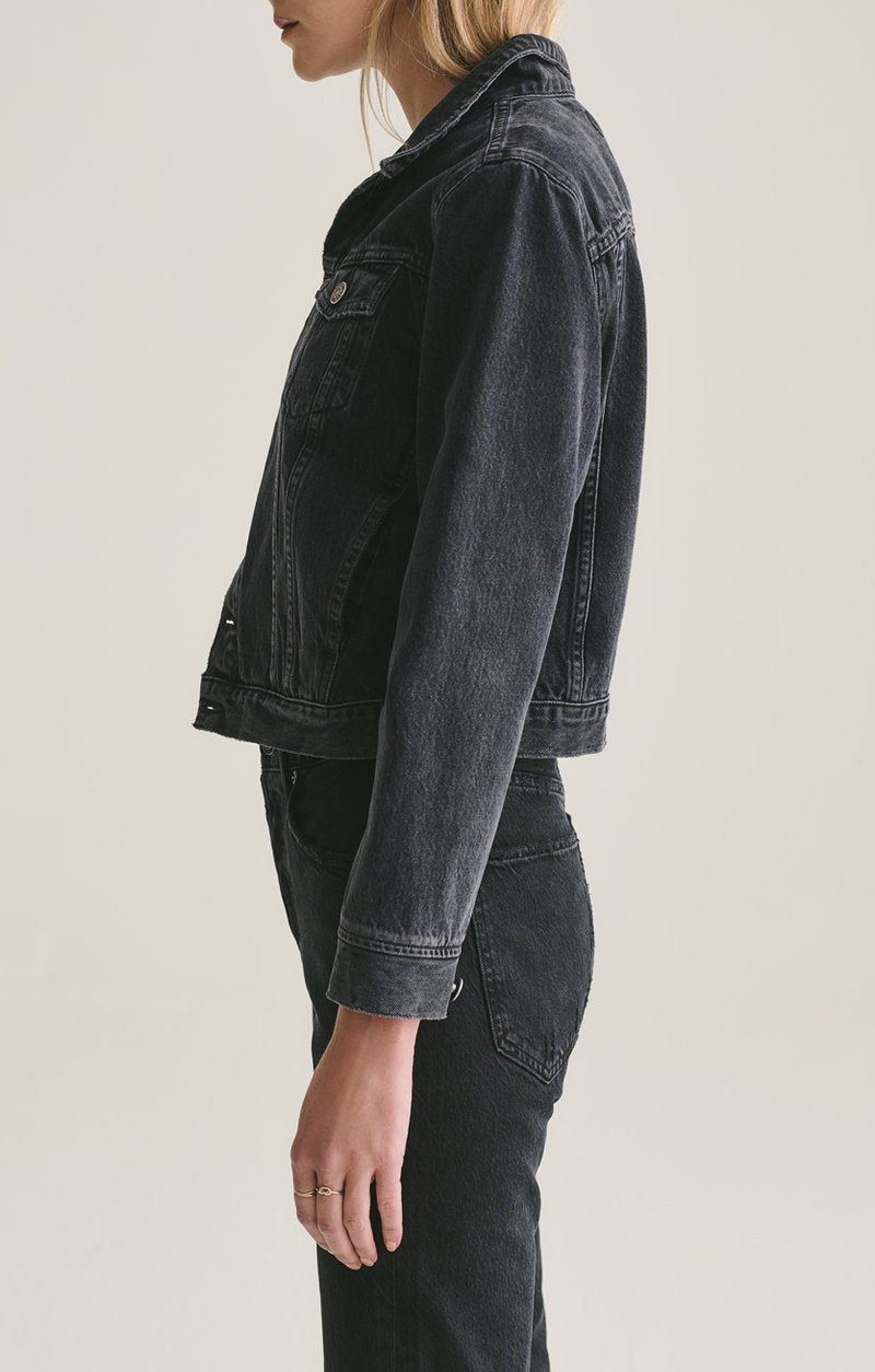 VIVIAN BLACK DENIM JACKET IN SEANCE