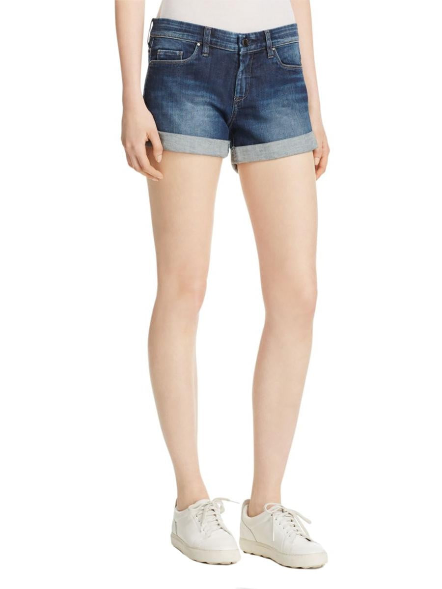 Classic Rolled Denim Shorts