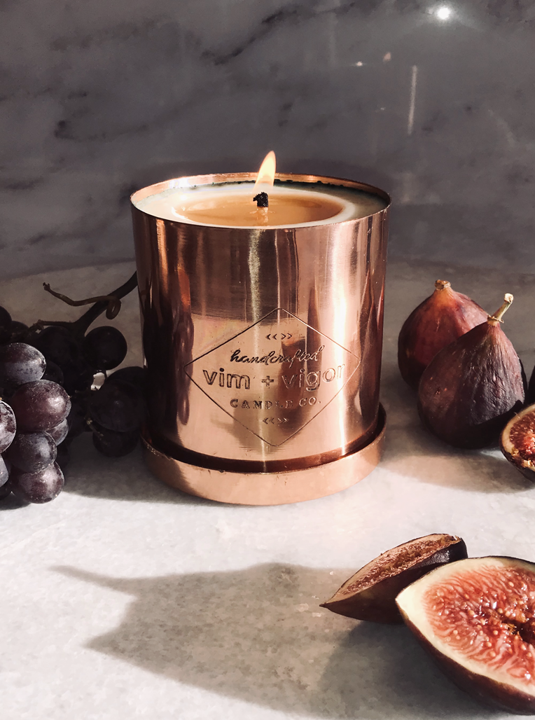 No. 135 RED CURRANT + FIG COPPER CANDLE