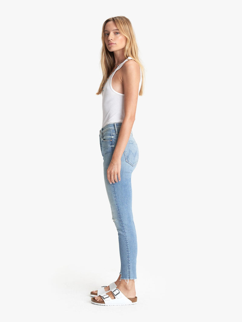 STUNNER DISTRESSED ANKLE JEAN IN HIT THE JACKPOT