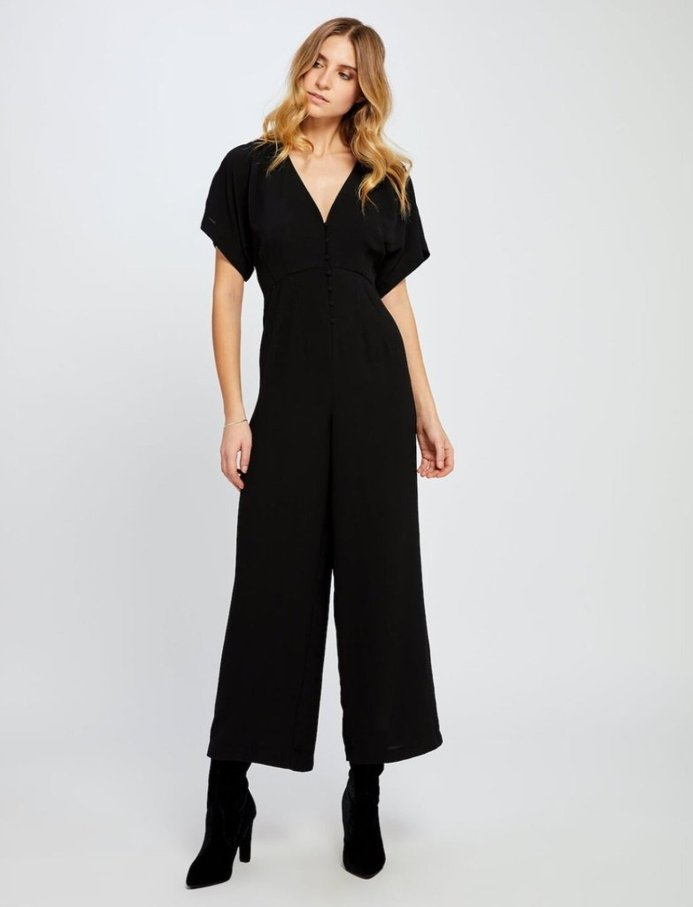 SEARRA BUTTON DETAIL JUMPSUIT