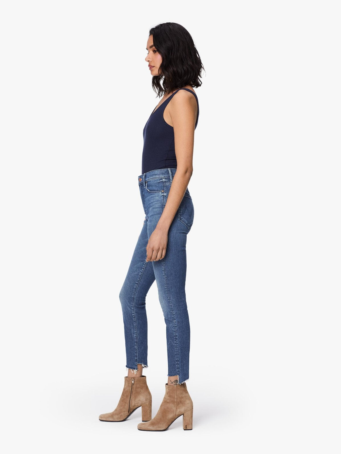 THE STUNNER TWO STEP FRAY ANKLE DENIM