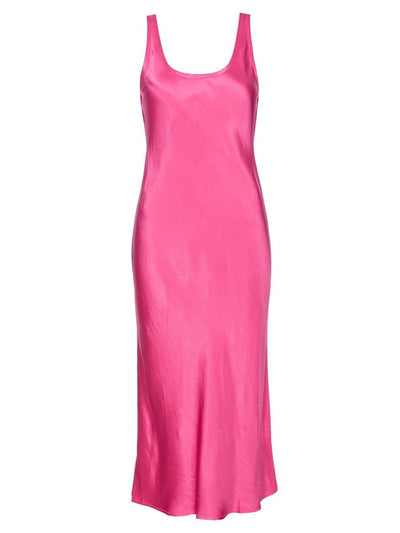 Samantha Midi Satin Slip Dress