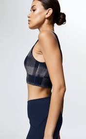 FAY ZIP FRONT SPORTS BRA IN FRAGMENT