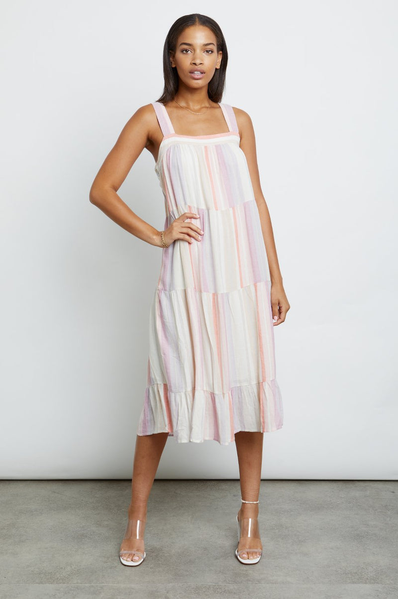 AMAYA DRESS IN JULIETTE STRIPE