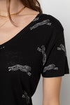 CARA BLACK CHEETAHS V-NECK