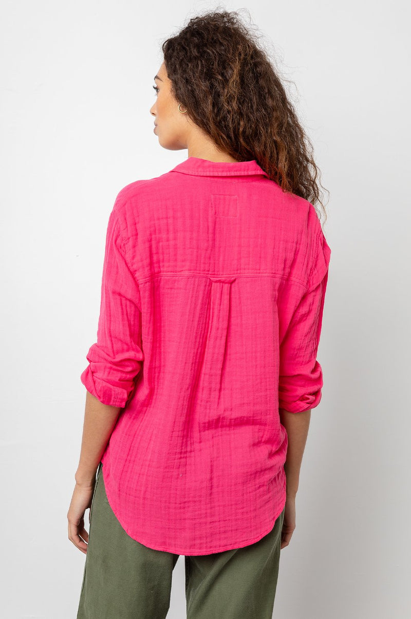 ELLIS - HIBISCUS LONG SLEEVE TOP