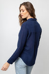 ELLIS - INDIGO LONG SLEEVE TOP
