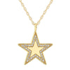 BLING STAR CHARM NECKLACE WITH PAVE