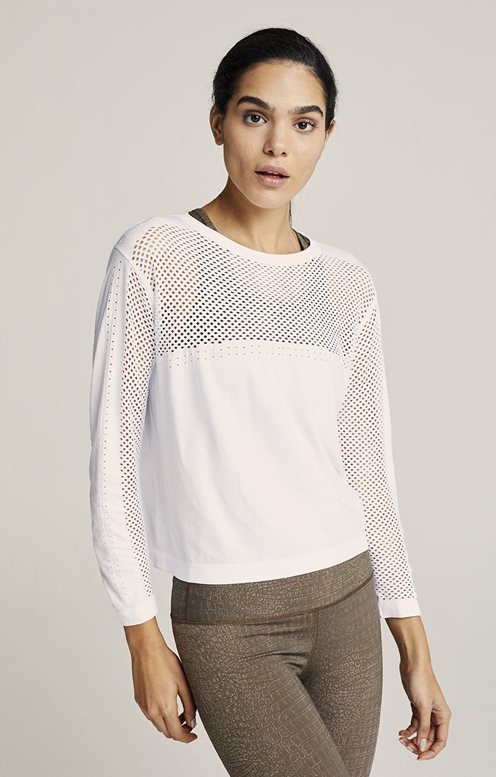 HALLDALE MESH SEAMLESS LONG SLEEVE