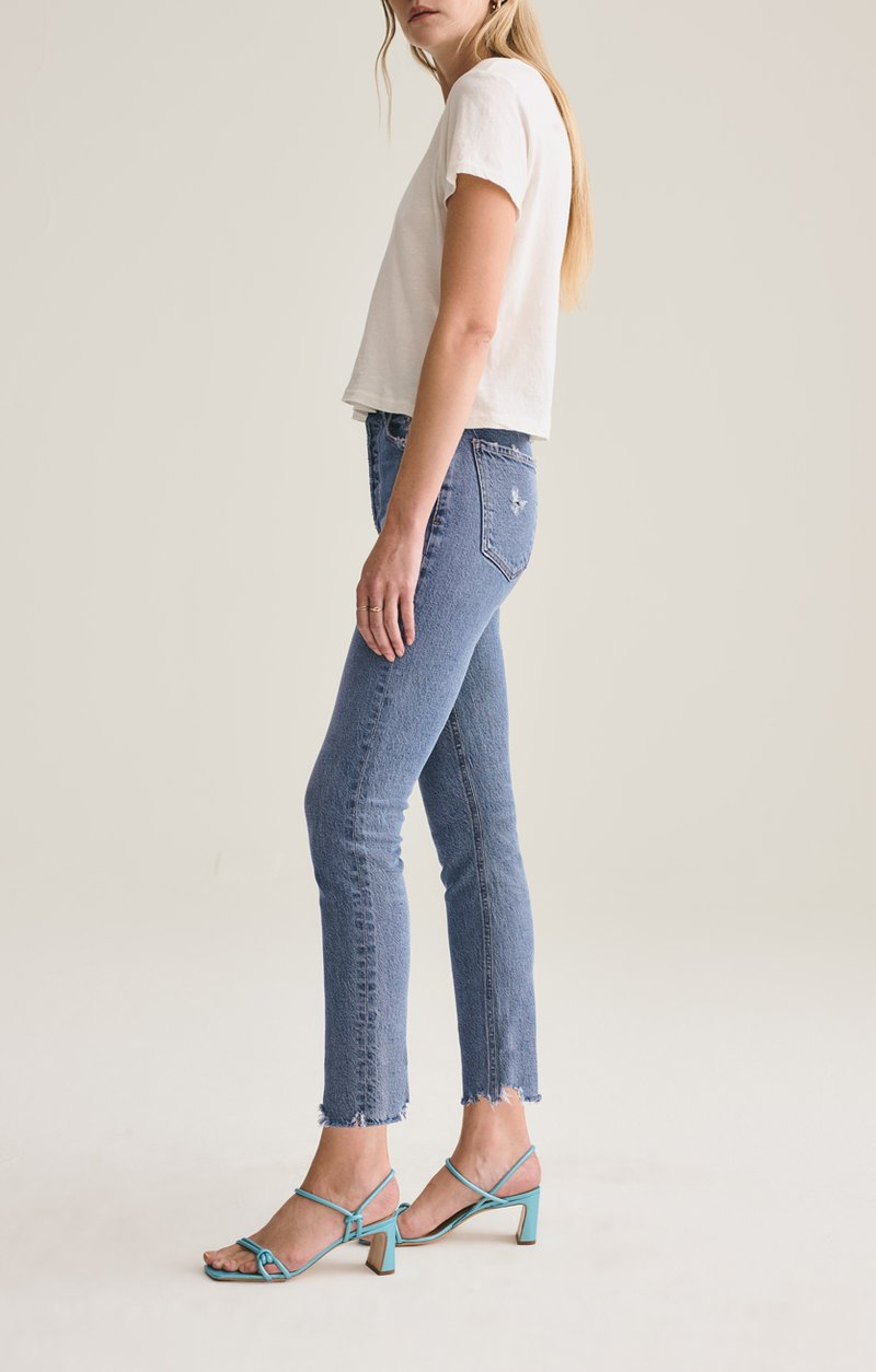 NICO HIGH RISE SLIM FIT JEAN IN ROOTED