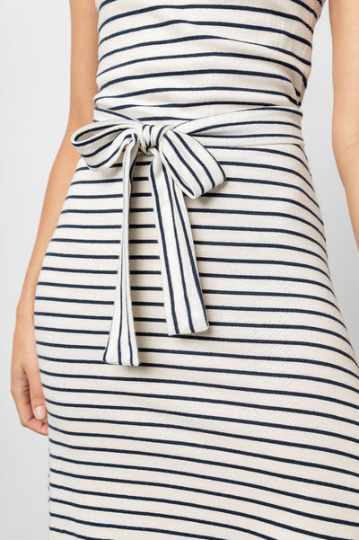 TAYLIN DRESS - CHALK NAVY STRIPES