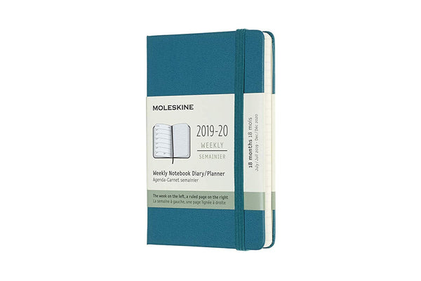 "Moleskine Classic 12 Month 2019 Weekly Planner, Hard Cover, Pocket (3.5"" x 5.5"") Magnetic Green"