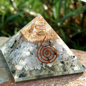 Moonstone Orgone Generator Pyramid at DL's Moon Spells