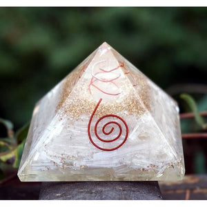 Selenite Orgone Generator Pyramid at DL's Moon Spells