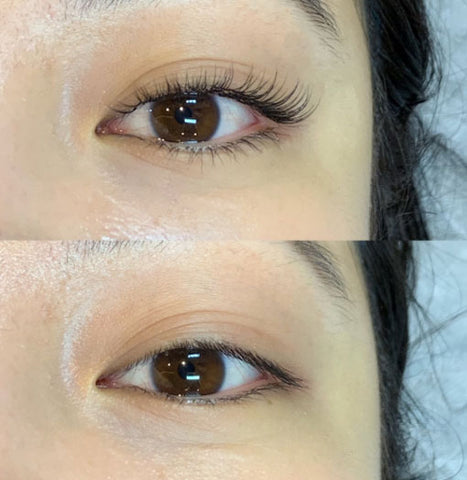 before and after lash up