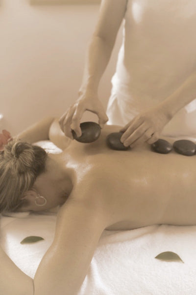 hot stone therapy