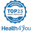 Top 25 Most Popular Health and Fitness Service Award for 2016