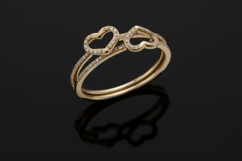 Connection Mini Heart Ring