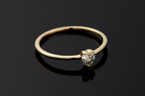 Connection Mini Diamond Heart Ring