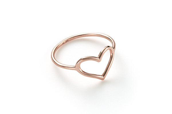 Single Delicate Heart Ring