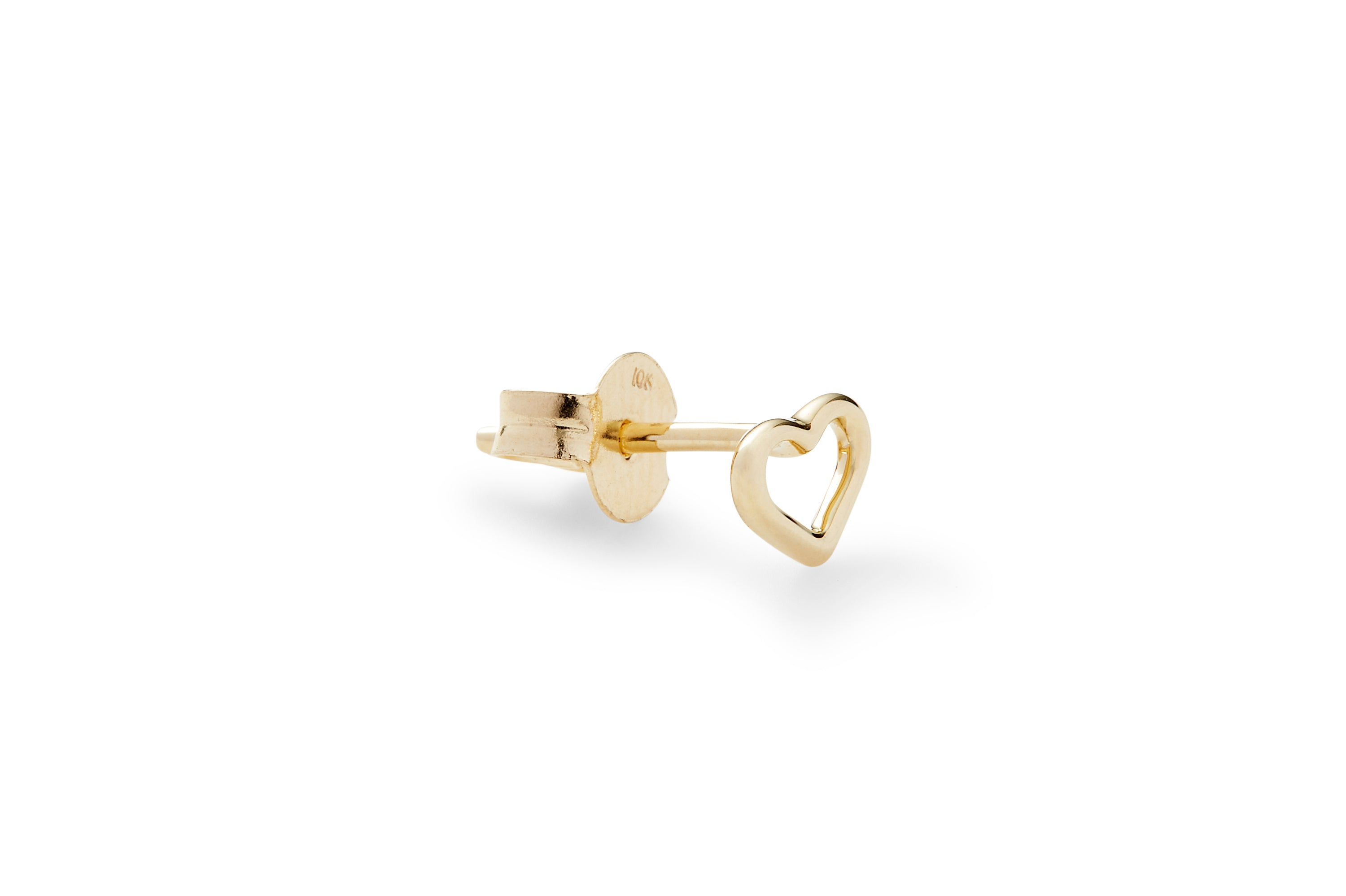 Single Delicate Heart Ear Stud
