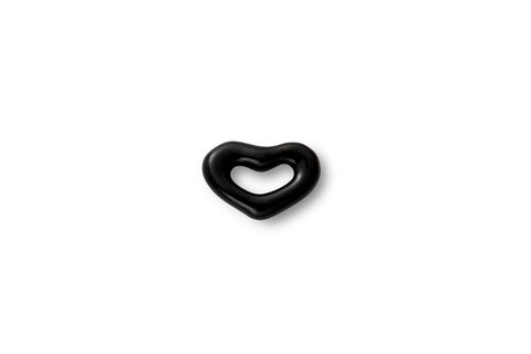 Mini Black Enamel Heart Ear Stud