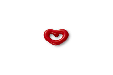 Mini Ruby Enamel Heart Ear Stud