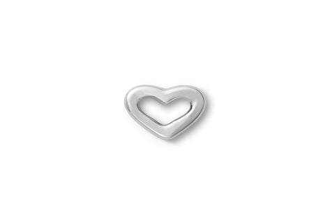 Mini Single Delicate Heart Ear Stud